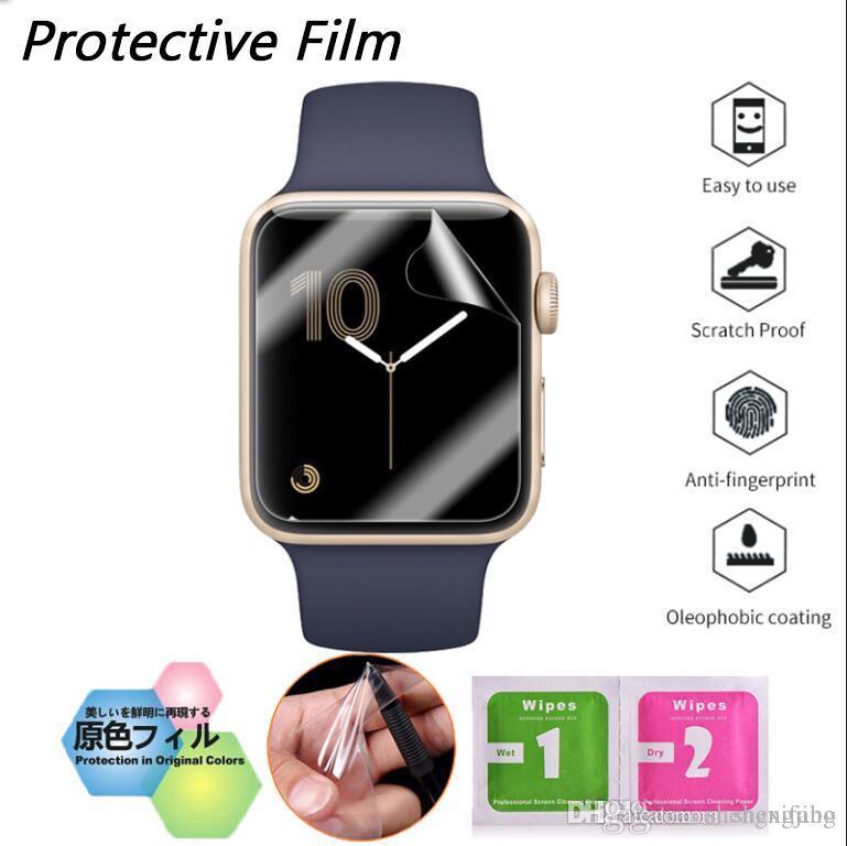 3a5cb61a720 Compre Para Iwatch Apple Watch Series 1 2 3 38mm 42mm Tpu Cobertura  Completa Película Protetora Protetor De Tela Capa De Shengxifang
