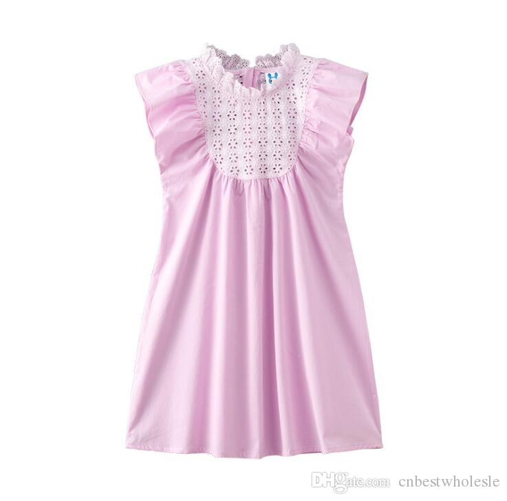 14e6a0e67bec Summer Big Girl Lace Flower Dresses Kids Clothing Teenager Princess ...