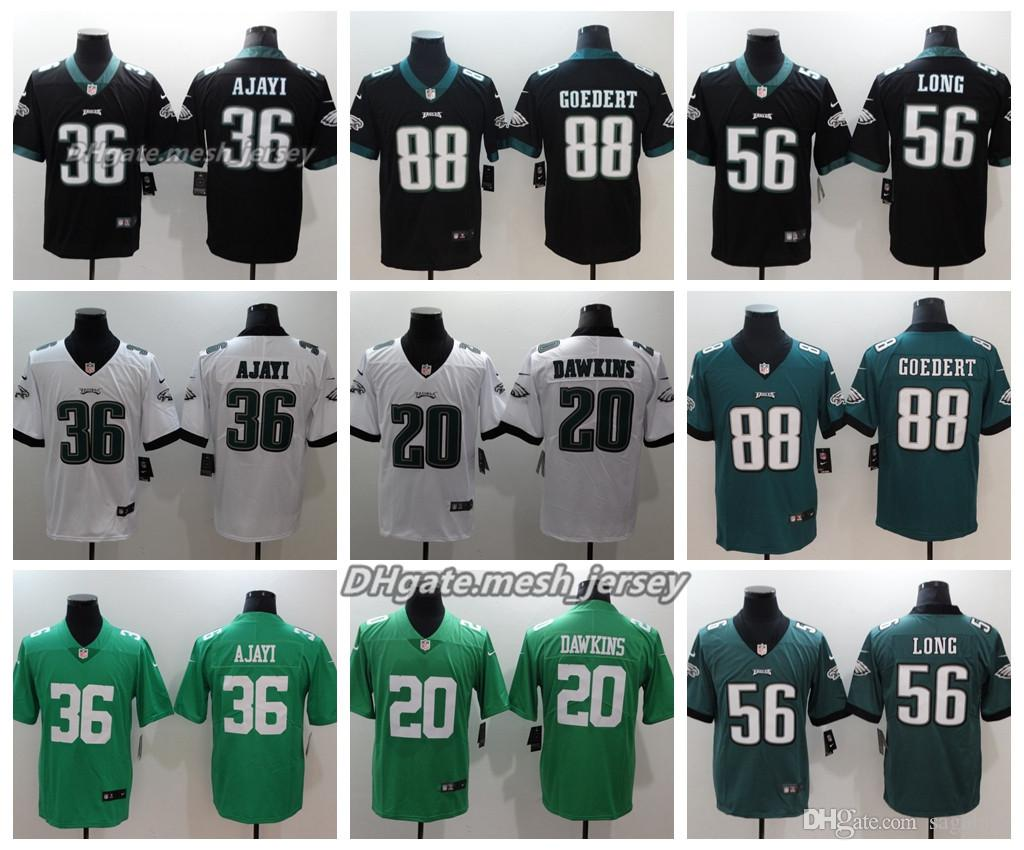 Men Philadelphia Jersey Eagles 36 Brian Westbrook 56 Chris Long 20 Brian  Dawkins 88 Dallas Goedert Color Rush Football Stitching Jerseys New Shorts  New ... c45d37644