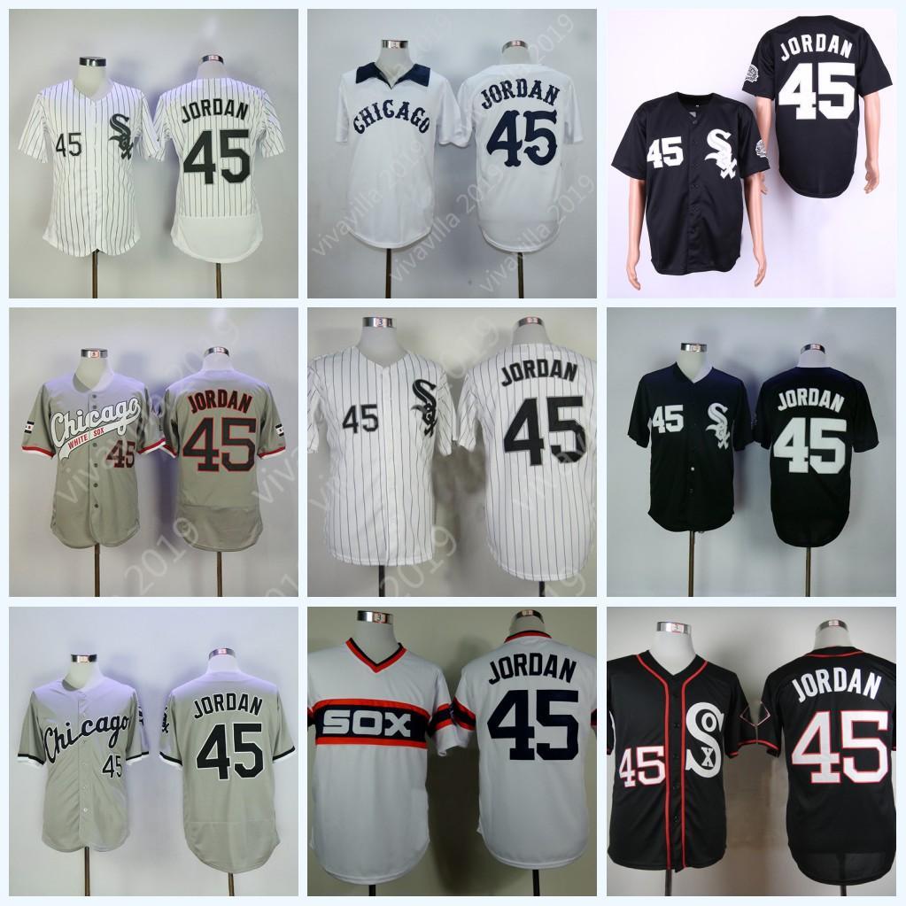 9fa8956383c 2019 45 Michael Chicago Mens Jersey Cool Base Flex Base White Sox ...