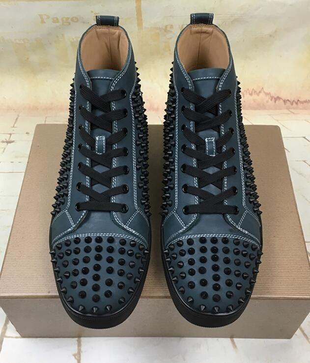 chaussures de sport 4c72c 28220 Designer de mode marque semelle rouge cloutée chaussures à crampons  chaussures chaussures de fond rouge pour les hommes et les femmes amateurs  de fête ...