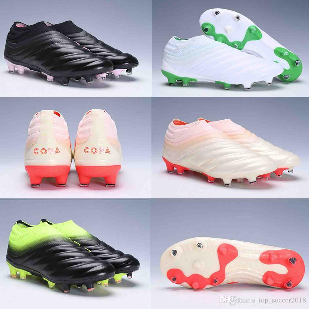 2019 Wholesale ACE Copa 19 + FG Männer Fußball Schuhe Stiefel Slip On Performance Cleats Fußball Schuhe neue Ankunft Herren Leder Fußball