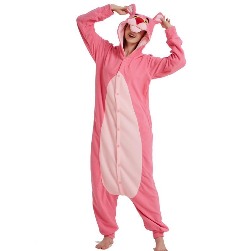 7840e8da02e2 2019 2018 Rushed Multi Hot Pink Panther Onesie Pajamas Polar Fleece Adult  Kigurumi For Halloween Costume Leopard One Piece Jumpsuit Cosplay Suit From  Home5