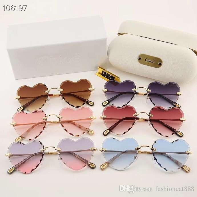 1af587d9970 New High Quality Luxury Brand UV400 Fashion Heart Shaped Metal Frame Women  Sunglasses 100% UVA And UVB Protection Lady Polarized Sunglasses Glass  Frames ...