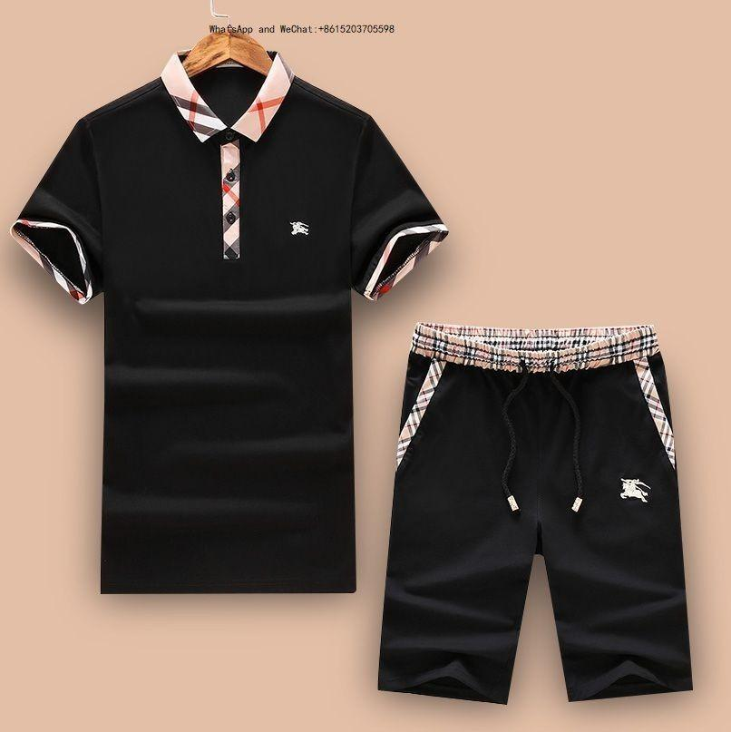 472e6fee1 Traje casual para hombre de verano 2019 Moda Tendencia Ropa deportiva  delgada delgada Chándal camiseta de manga corta Hombres