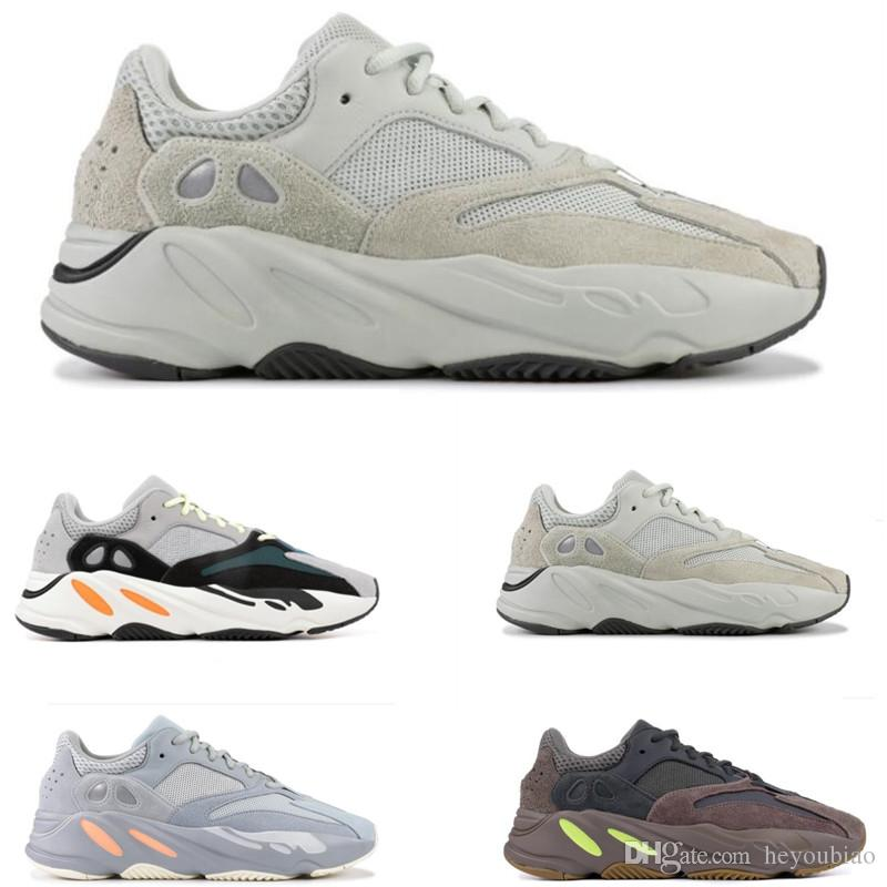 86922ecf2 2019 Kanye West Salt 700 Wave Runner Mens Running Shoes INERTIA Solid Grey  Women Sports Trainers High Quality Sneakers Men Shoes Online Best Running  Shoes ...