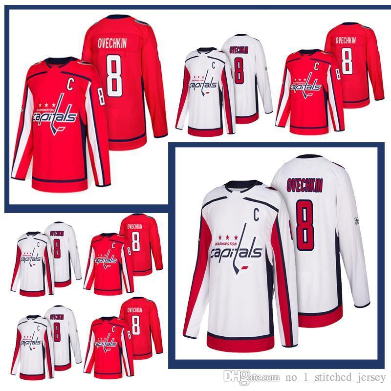 differently 90715 2f88e 2018 New #8 Alex Ovechkin Jersey Washington Capitals Jersey 100% Stitched  High-quality Top quality Hockey Jersey Free Shipping
