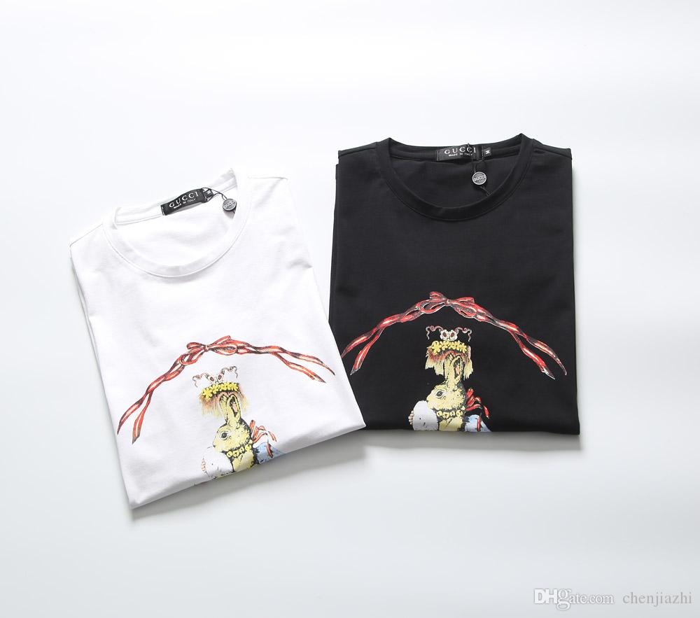 Camiseta Hombres Ropa 100Algodón Imprimir Casual Marca Elástico Para 2019 Camisetas Camisas Hombre Hot yvP0NnOmw8