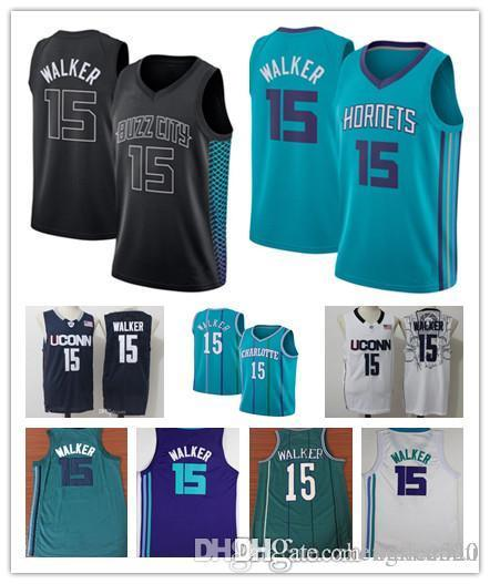 8d00642feab9 2018 2018 Mens City Edition Stitched 15 Kemba Walker Jersey Purple White  Black Basketball Kemba Walker Uconn Huskies College Jersey From Bailee520