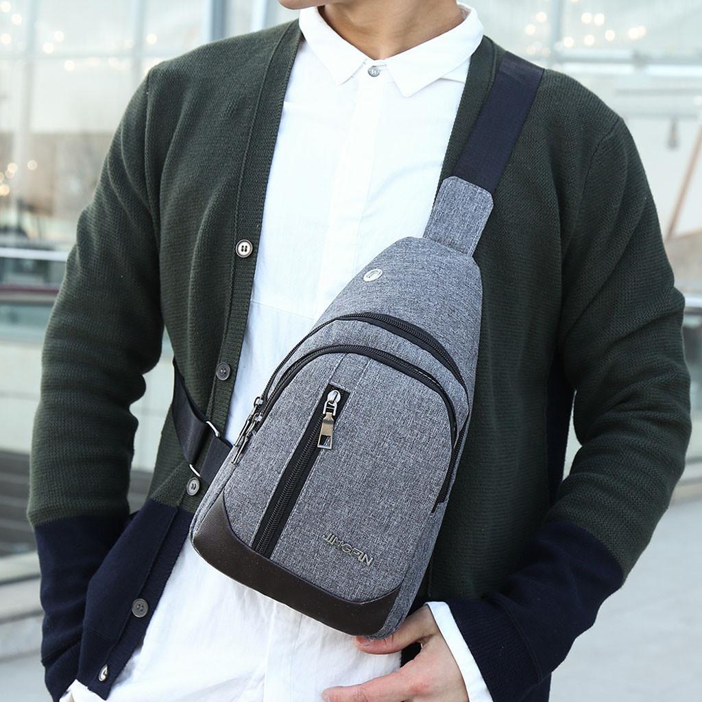 1d05730752b 2019 Men New Shoulder Bag Fashion Outdoor Solid Versatile Shoulder  Messenger Bags High Quality Luxury Travel Hiking Chest Bag