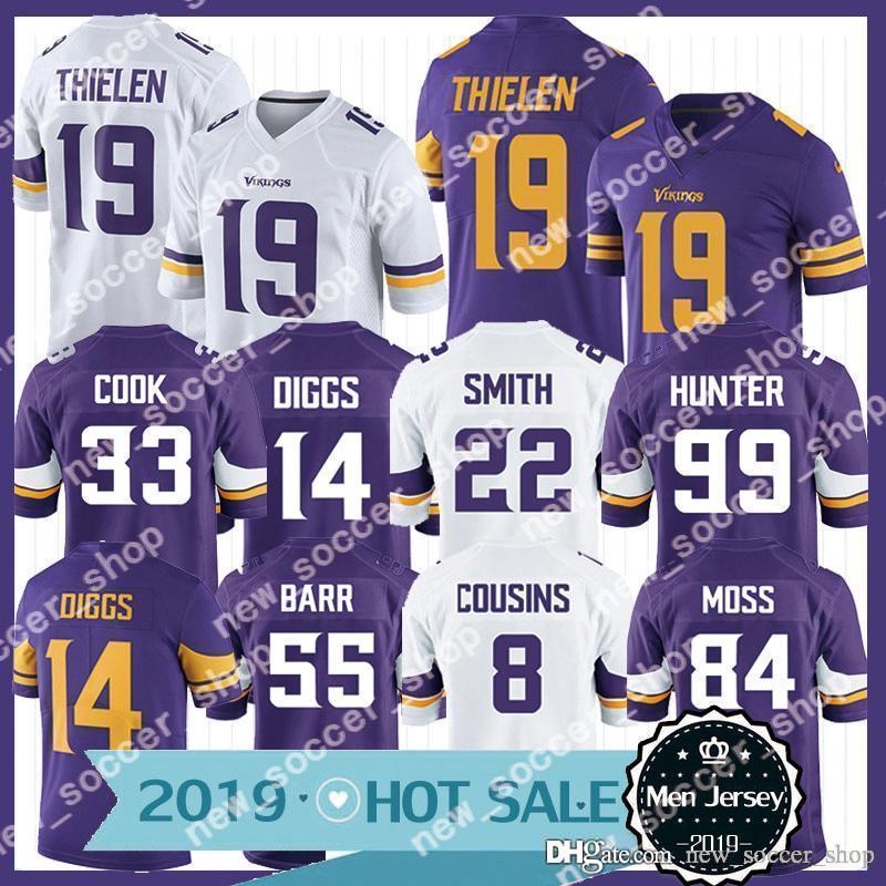 meet 2acc5 0ca98 19 Adam Thielen Jersey Minnesota Men Vikings 33 Dalvin Cook 14 Stefon Diggs  22 Harrison Smith 84 Randy Moss 55 Barr 19 Thielen