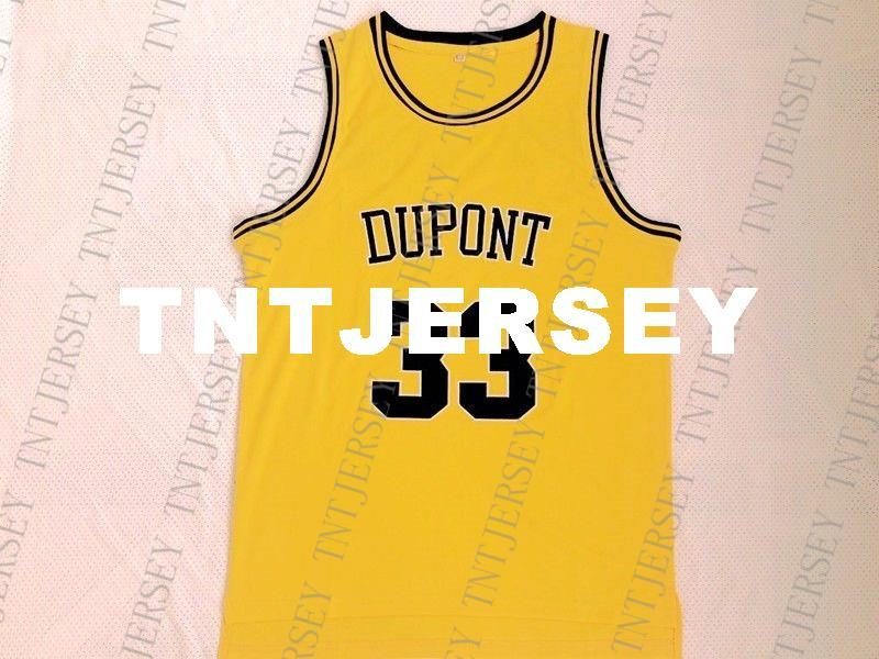 release date 46253 993ad Cheap custom Vintage #33 Jason Williams Jersey Dupont High School jersey  Yellow Stitched Customize any number name MEN WOMEN YOUTH XS-5XL
