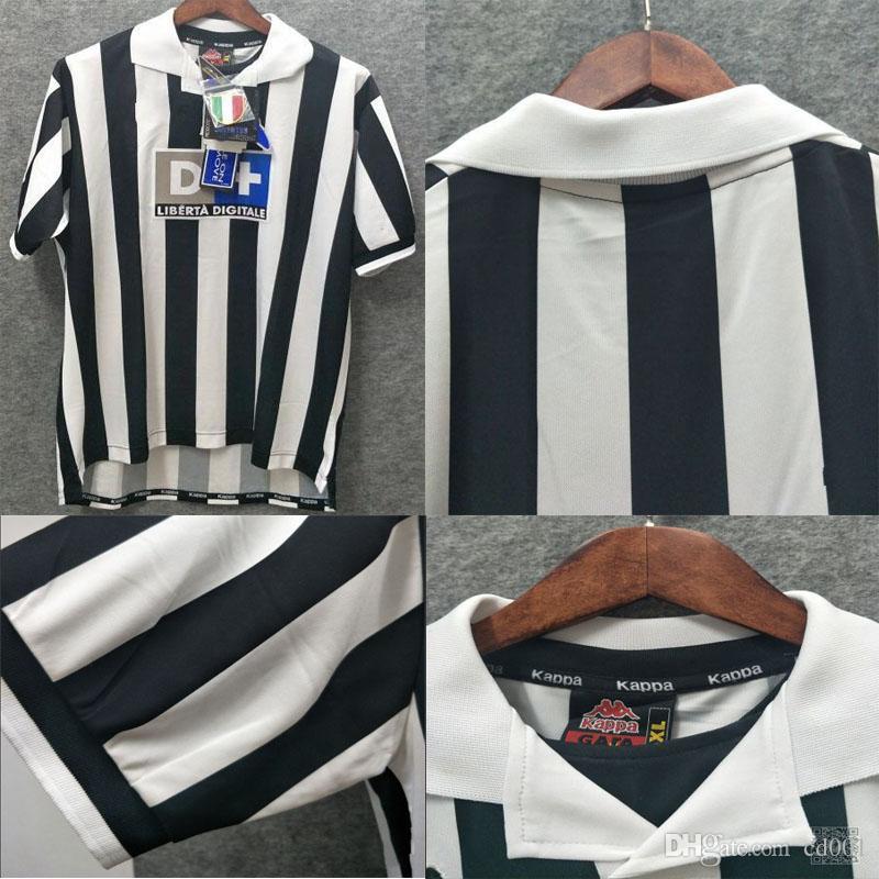 buy popular 69f74 ca0d3 1999 2000 Retro Juventus Soccer Jersey Conte Inzaghi Del Piero Zidane  RONALDO 99 00 Juve Football Shirts Vintage Camiseta Maillot de Foot