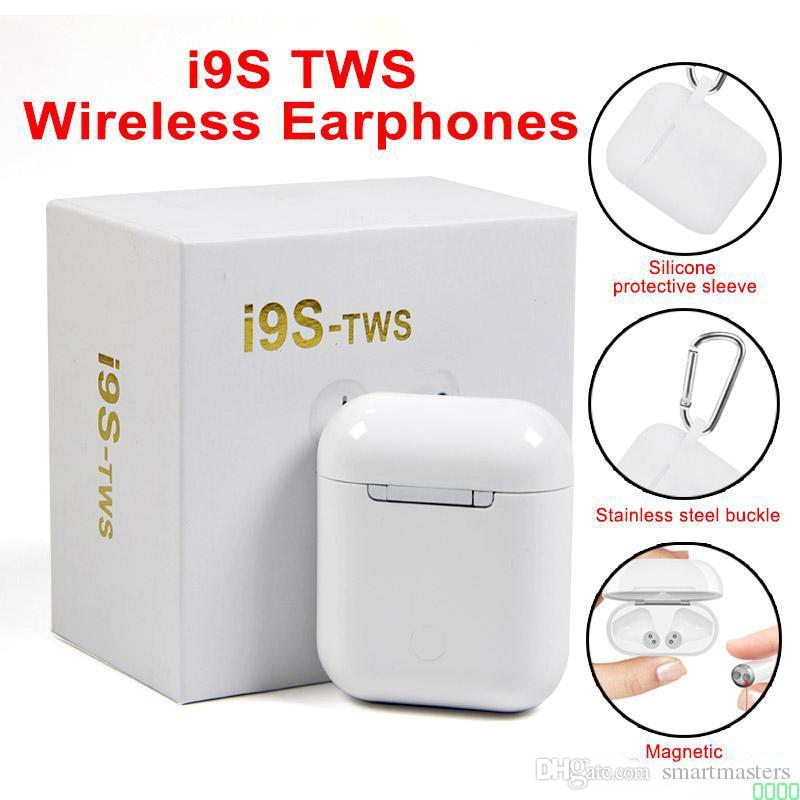 Top selling I9S Tws Earphone Headphone Stereo TWS Earbuds for IOS Android With Charging Box Wireless Bluetooth 0000