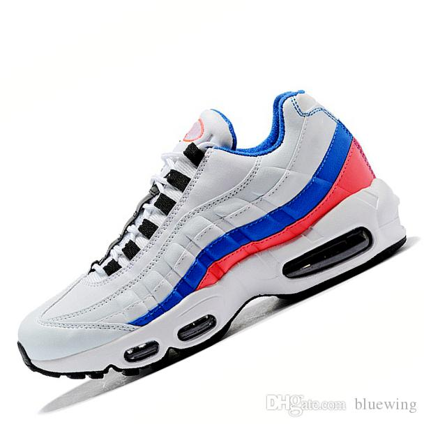 new arrival 73248 cf644 Acheter Nike Air Max 95 Avec Box !! AAA + Qualité Coussin 95 Chaussures De  Course Hommes Femmes Triple Outdoor Trainer 95s Casual Sport Sneaker Taille  36 46 ...