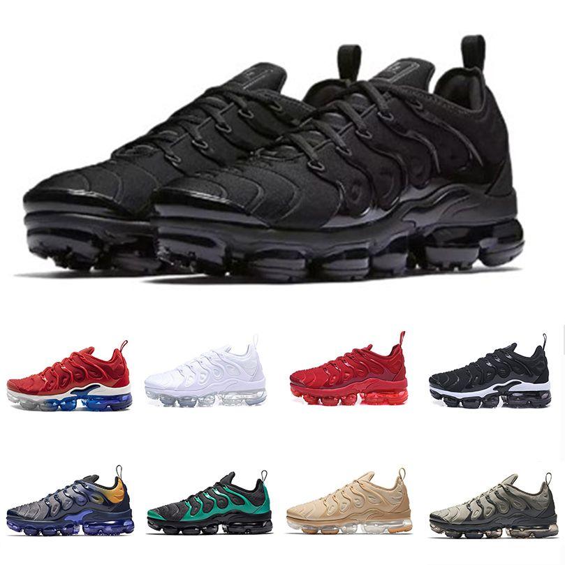 pick up fa165 e8e95 TN Plus Running Shoes Air Cushion For Men Women Triple Black White Designer  Sneakers Walking Hiking Trainers Sports Outdoor Chaussures 36-46 Tn Tn Plus  ...