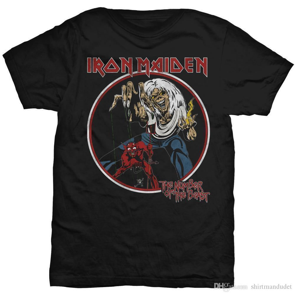 ba8d9be6 IRON MAIDEN 'Number Of The Beast Vintage'T Shirt Neuf Et Officiel ...