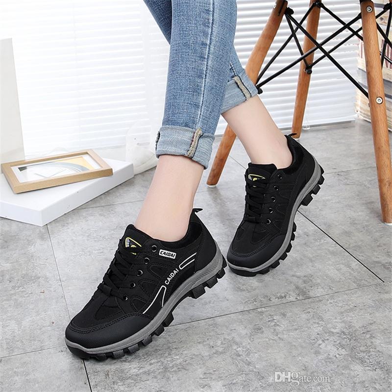 check-out b7482 35827 Chaussures de travail étanches pour femmes, 2018, automne, antidérapantes,  chaussures de voyage, chaussures de sécurité pour femmes en plein air ...
