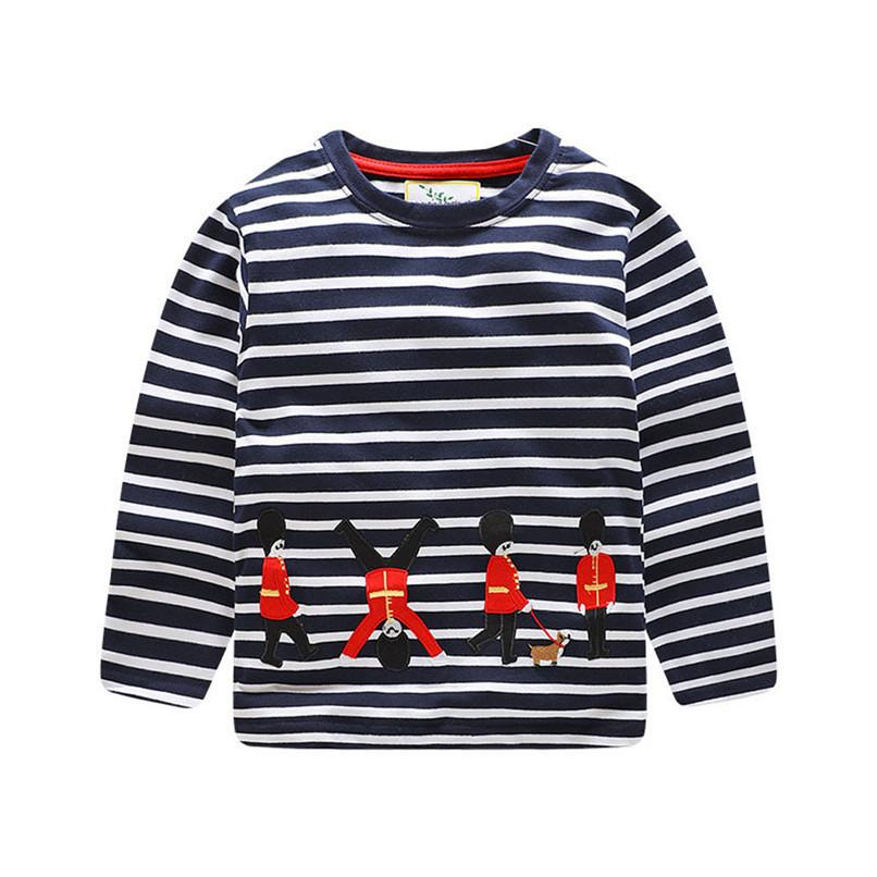 Boys Clothes 2 years Baby Boys Tops And Tees Kids Baby Boys Long Sleeve Stripe Print T-shirt Top Clothes Baby Costume D19