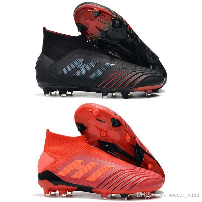 b8905fa9e New Mens High Tops Football Boots Archetic Predator 19+ Firm Ground ZIDANE  BECKHAM Cleats Predator 19 FG Original Soccer Shoes
