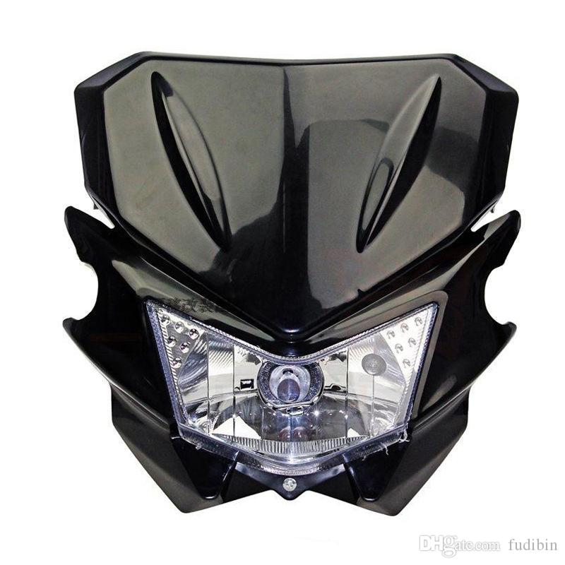 12V 35W Universal Street Fighter Headlight Headlamp Fairing kit For KAWASAKI YAMAHA SUZUKI HONDA KTM Dirt Bike Motorcycle