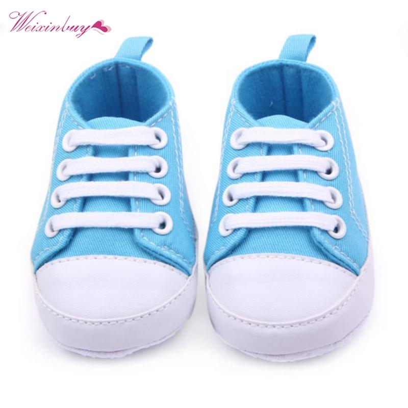 52d968e1f675f 2019 Baby Canvas Classic Sports Sneakers Newborn Baby Boys Girls First  Walkers Shoes Infant Toddler Soft Sole Anti Slip Shoes From Qwinner, $34.6  | DHgate.