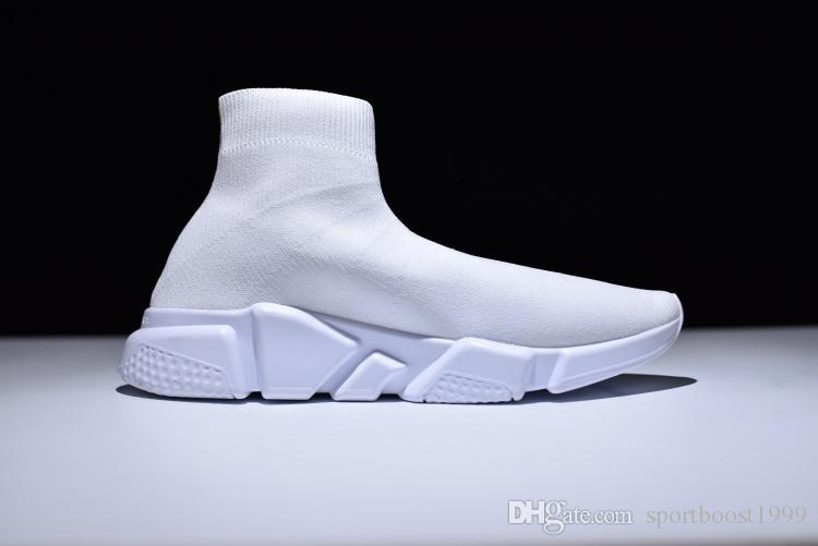 81811c81190cf Luxury Designer Speed Trainer Stretch Knit Mid Sneakers Fashion Sock Shoes  Men Women Casual Sock Boost Runners Sport Boots Wedge Shoes Walking Shoes  From ...