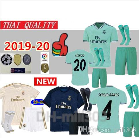 d974aab5665 2019 19 20 Real Madrid Soccer Jerseys Kits Top Quality 2019 2020 Men ...