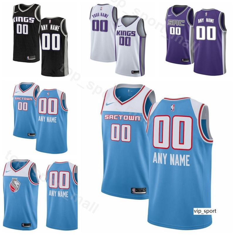 new product 85537 acac4 Print Men Youth Women Sacramento Basketball Marvin Bagley III Jersey  DeAaron Fox Buddy Hield Bogdan Bogdanovic Harrison Barnes Shirts
