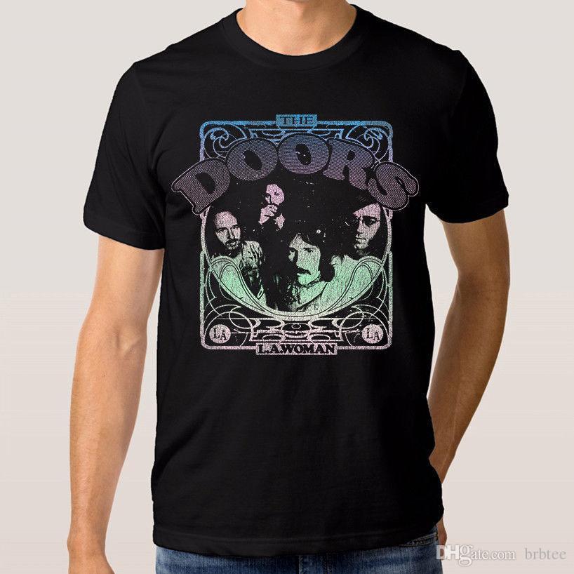 70da47e8 2018 Latest Fashion The Doors L.A. Woman T Shirt Men'S Women'S New Cotton  Jim Morrison Tee Funny Casual Clothing Shirts Mens Cool T Shirts Designs  From ...