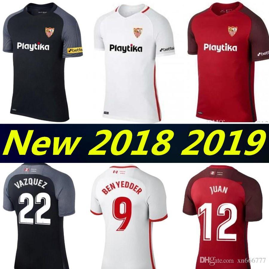 3675236b3 2018 Sevilla Soccer Jersey 2019 Third EVER BANEGA BEN YEDDER GEIS J ...