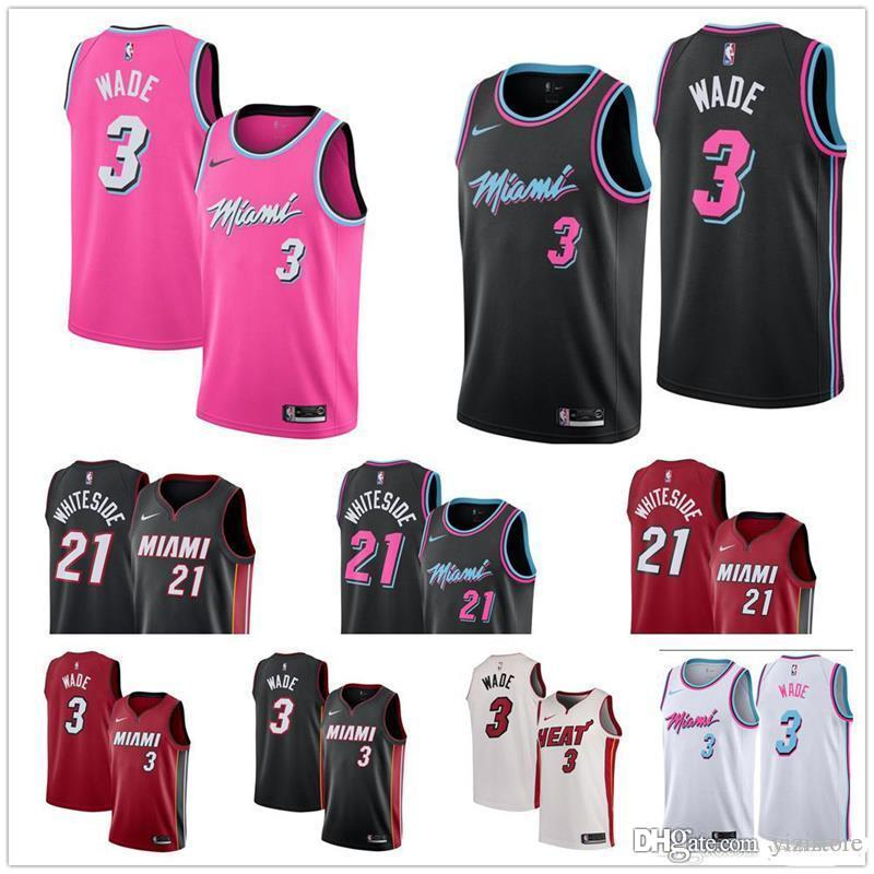 f4bf837af032 ... where to buy 2019 hot cheap heat jersey the city edition miami dwayne  wade jersey 3