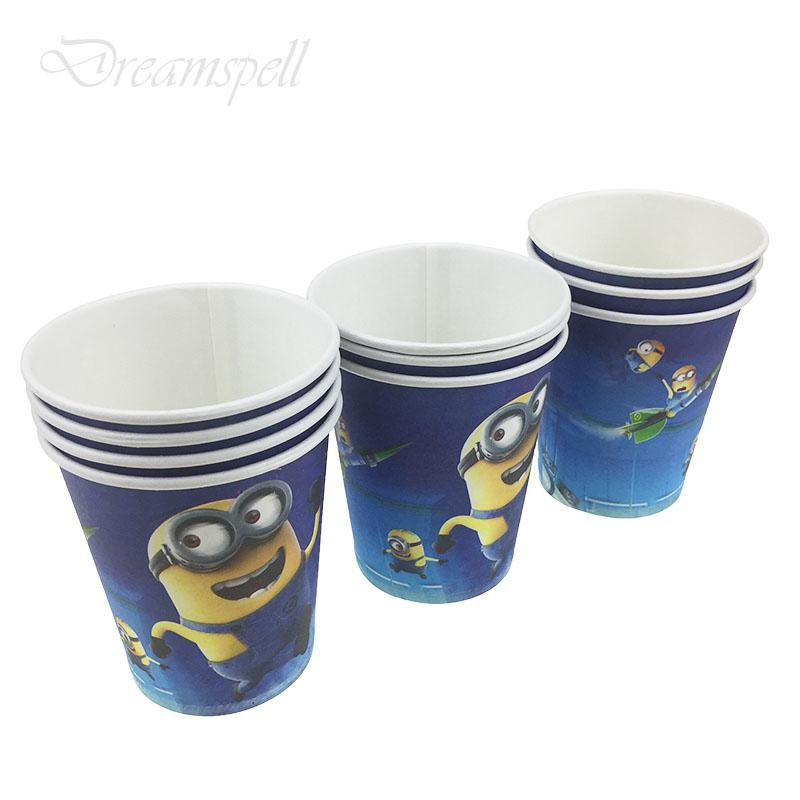 10pcs/lot Disposable paper Cups Birthday Party Decorations Kids Baby Shower  Supplies Party Favors Kids Birthday