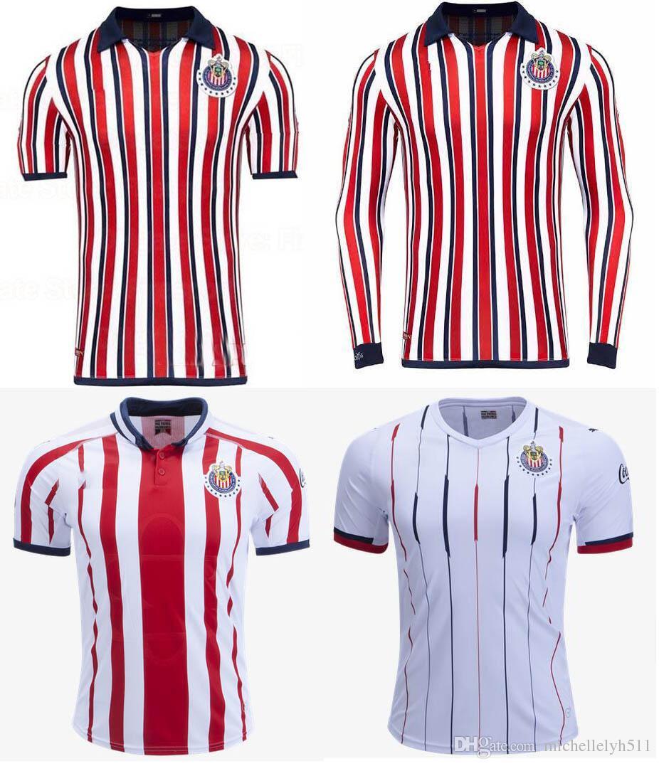 2019 18 19 Chivas Guadalajara Soccer Jerseys A.PULIDO LOPEZ A.ZALDIVAR  VAZQUEZ Football Shirts 2018 2019 Chivas Home Away Jersey Uniform From  Michellelyh511 ... b98117666