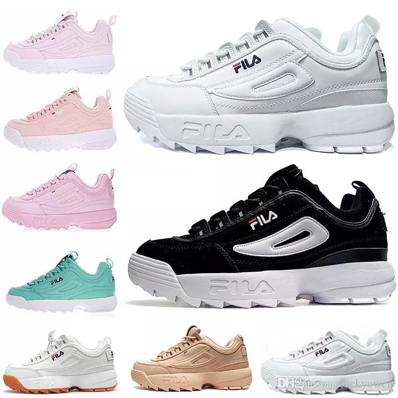 8de83fa8 Compre Original FILA Disruptors II 2 Original Blanco Negro Gris Amarillo II  2 S Mujer Hombre ARCHIVO Sección Especial Zapatillas Deportivas Zapatillas  ...