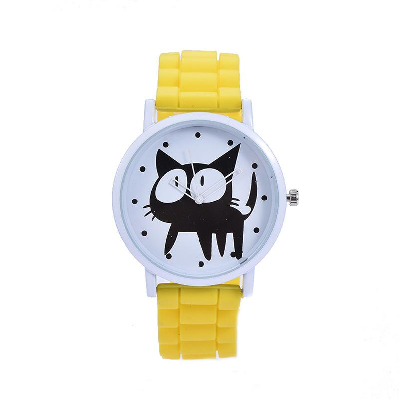 2019 NEW Cute Cat Pattern Kids Wrist Watch Quartz Analog Child Watches For Boys Girls Student Clock Gifts Relogio Feminino