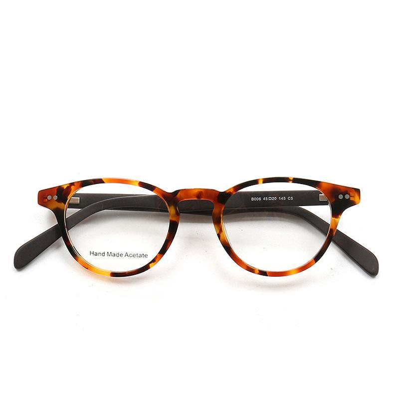268b578b29 Compre Retro Gafas Redondas Mujeres Hombres Hechos A Mano Gafas Ópticas  Para La Vista Moda Miopía Anteojos Acetato Espectáculos Claro Receta A  $46.47 Del ...