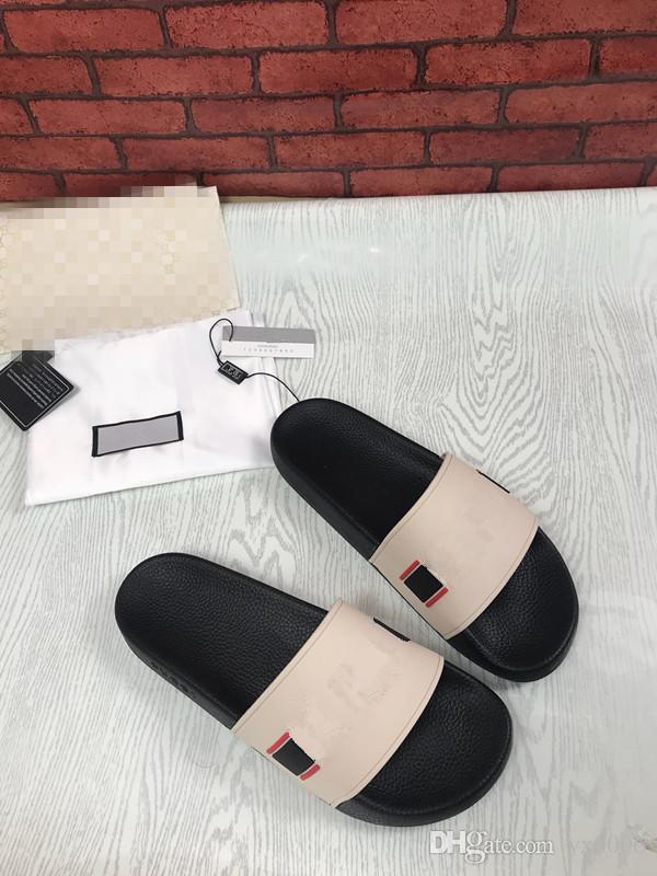 93b33fac4d3 Women Sandals Designer Slides Brand Fashion Striped Sandals Medusa Scuffs  Causal Non Slip Summer Huaraches Slippers Hx18102313 Flat Shoes Biker Boots  From ...