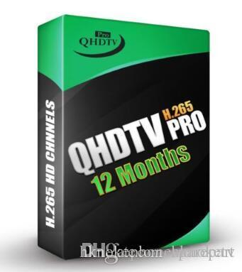 QHDTV pro with 1 Year IPTV Subscription code H 265 Channels Full HD For  Android TV Box Dutch Belgium French