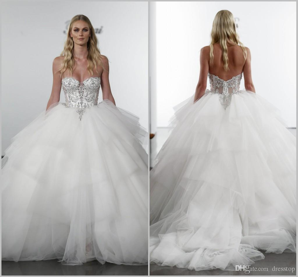 Pnina Tornai 2019 Wedding Dresses: 2019 Pnina Tornai A Line Wedding Dresses Sweetheart