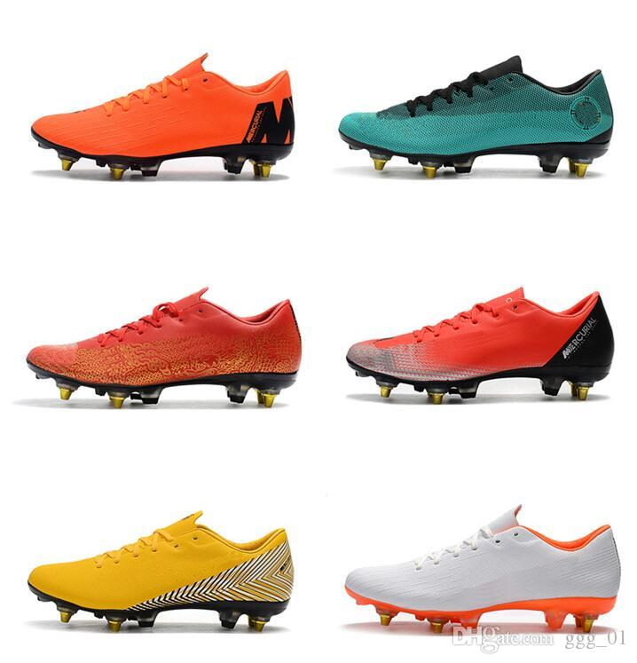 83f88425f 2019 2019 New Mercurial Vapors XII PRO SG Mens Soccer Cleats Neymar Soccer  Boots Cristiano Ronaldo World Cup Football Shoes Scarpe Calcio From Ggg 01