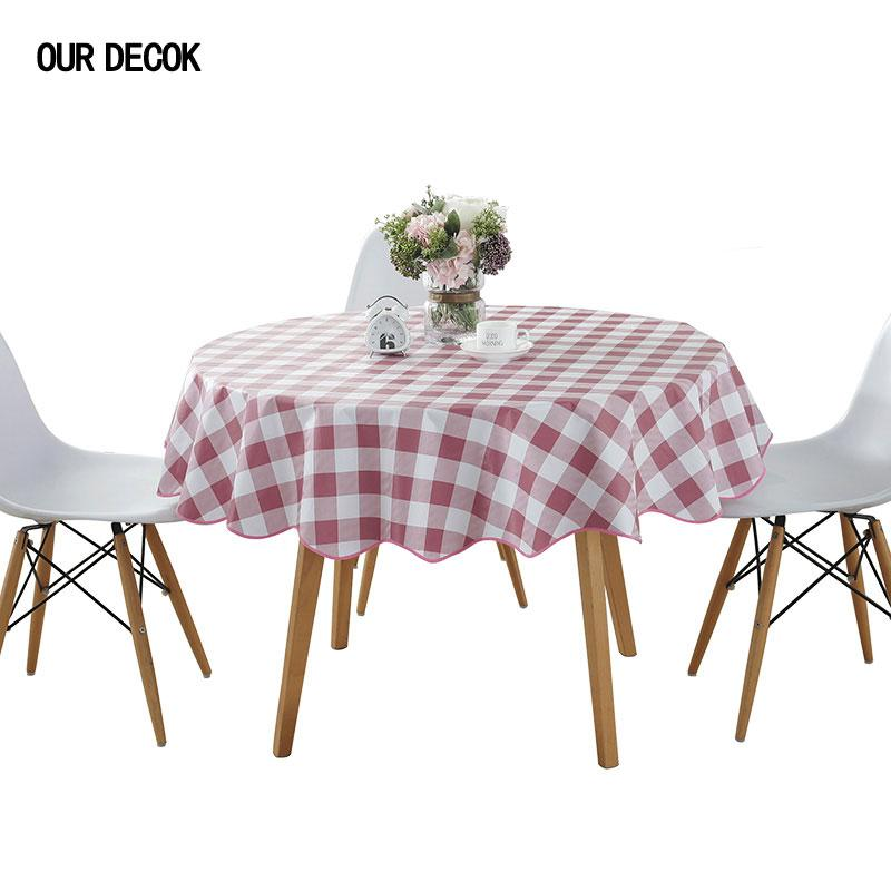 Surprising Pastoral Plastic Round Tablecloth Pvc Oil Proof Waterproof Romantic Florals Printed Table Cover Wedding Decoration Table Clothes Download Free Architecture Designs Grimeyleaguecom