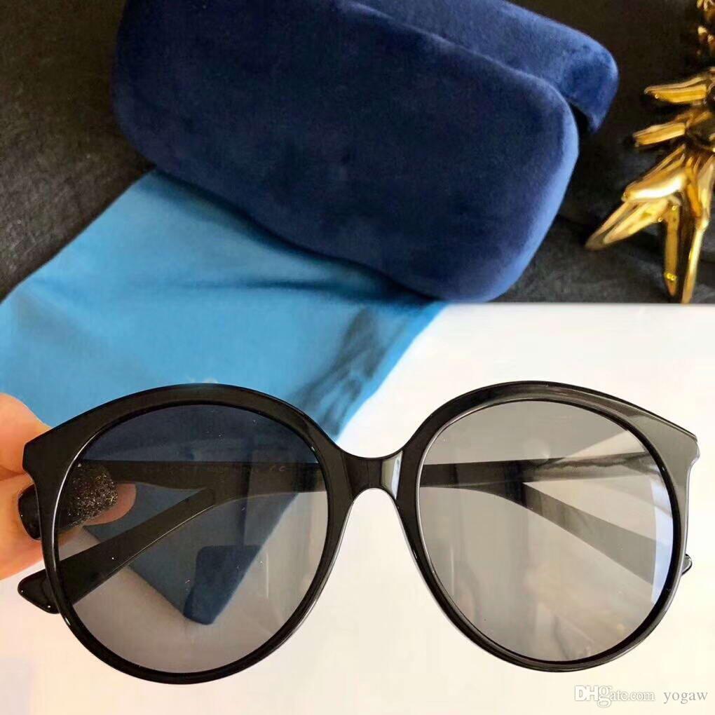 bc6b280155c4d Compre Mulheres Óculos De Sol 0257 Preto Cinza Lente Rodada 59mm ...