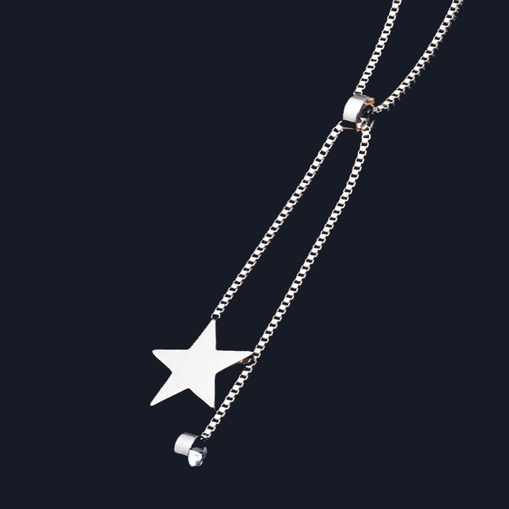 PUN best friends bijoux fashion jewelry neckless chain chocker star long stainless steel necklaces & pendants jewellery