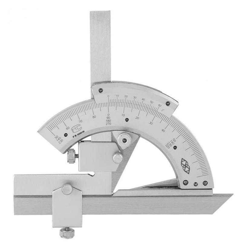 Hi-quality Carbon Steel Universal Bevel Protractor 0-320 Degree Precision Angle Measuring Ruler Tools Accuracy of 0.2