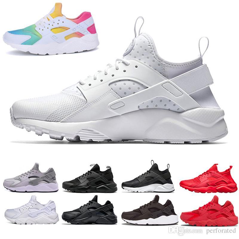 2019 2018 New Huarache Ultra Run Shoes Triple White Black Men Women Running  Shoes Huraches Red Grey Huaraches Sport Shoe Mens Womens From Perforated 640cfcb8c