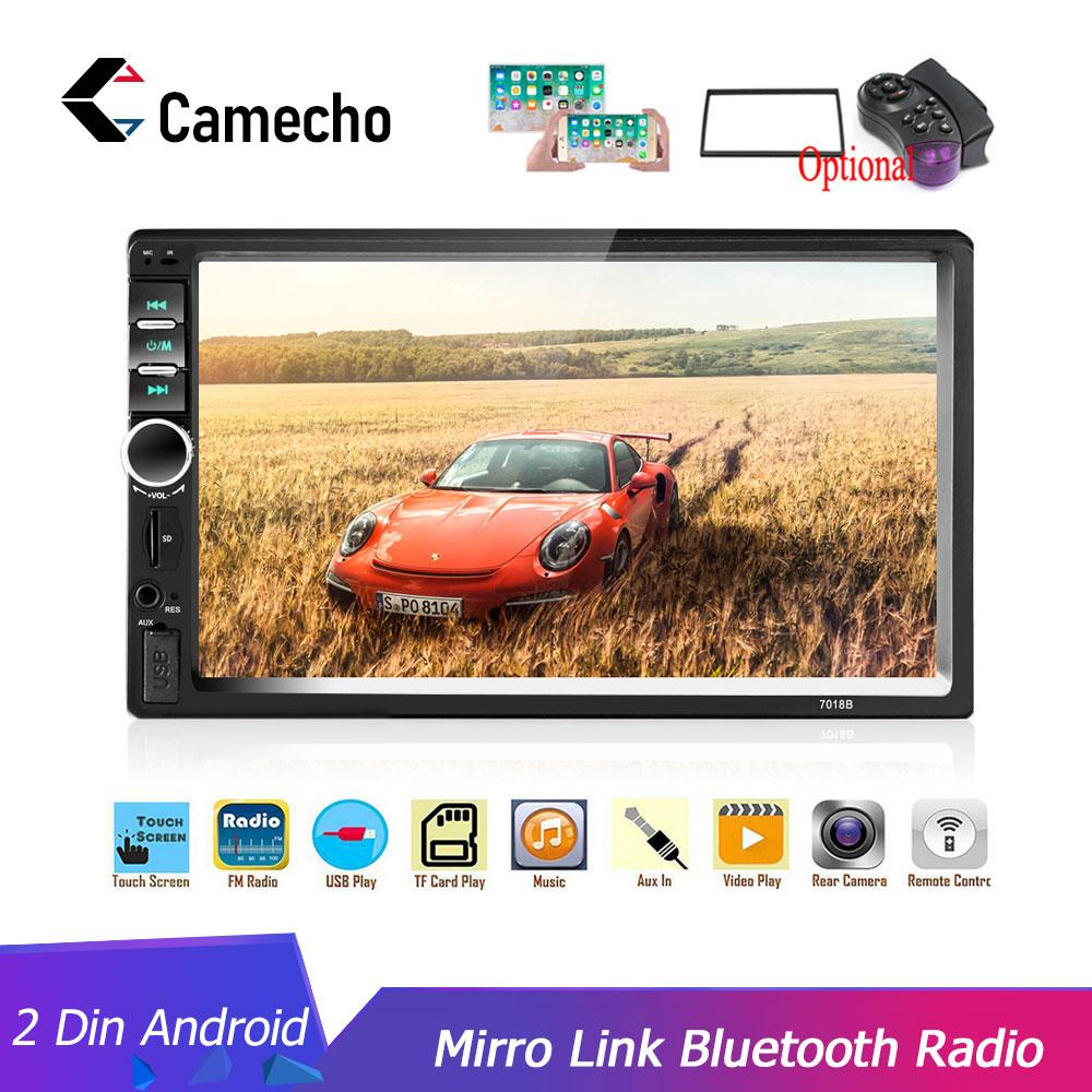 "Camecho 2Din Car Radio 2din Multimedia Player 7"" HD Autoradio USB AUX Bluetooth FM Auto Stereo Support Android Mirror Link Audio car dvd"