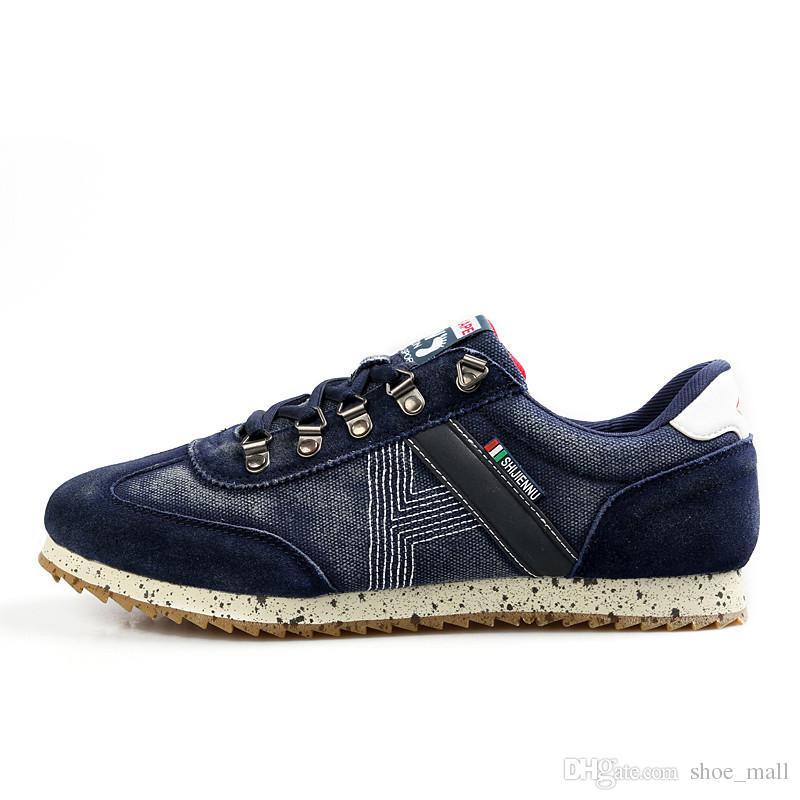 06aebdaba1 A buon mercato 2019 uomini 2018 scarpe casual vendita nuove donne di stile  all'aperto in pelle casual scarpe di tela spedizione gratuita a0102