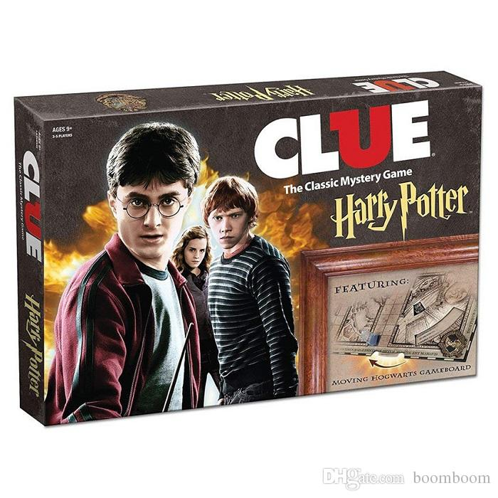 5set Hot Sale Clue Harry Potter Board Game Action Figures Collector's Edition Brand New Sealed Set Witchcraft Game Collection Cards Kit Toy