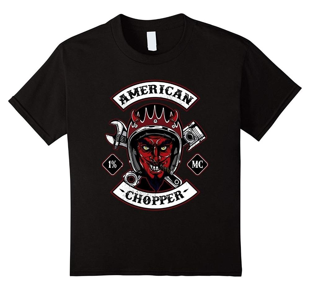 American Chopper por Homens 2019 New algodão de manga curta Moda Casual Slim Fit camisetas personalizadas Slim Fit